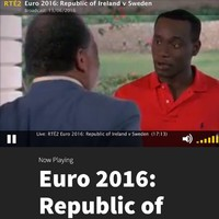 RTÉ Player showed Cool Runnings during the match yesterday, and people were raging