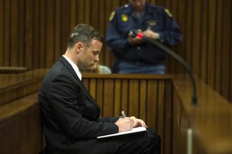 Oscar Pistorius appears in the High Court in Pretoria, South Africa.