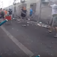 Shocking GoPro footage of Russian hooligans attacking English fans