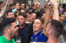 Keith Duffy joined the Irish fans singing Boyzone songs in France