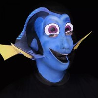 This woman's unreal Dory makeup tutorial is freaking the internet out