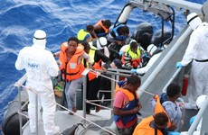 Irish naval ship rescues over 100 people from the Mediterranean
