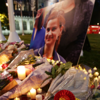 'We are devastated': Flowers laid at tearful vigil for murdered MP Jo Cox