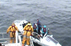 Four men attempting record breaking row off UK coast rescued by Rosslare RNLI