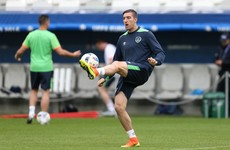 Ward replaces Walters in the Ireland team to face Belgium at Euro 2016
