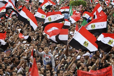 Thousands of Egyptians rally in Cairo's Tahrir square, Egypt, Friday, Nov.18, 2011, in a protest against what they say are attempts by the country's military rulers to reinforce their powers.