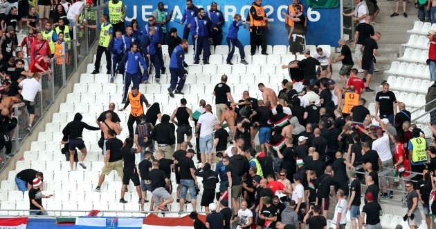 More unrest in Marseille as Hungarian supporters clash with police inside stadium