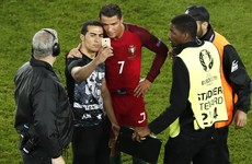 Ronaldo waved away security guards to make this pitch-invader's day