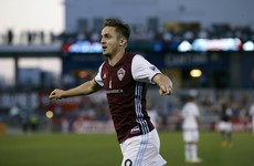 At least one Irish striker found the net yesterday, as Kevin Doyle helped Colorado to a big win