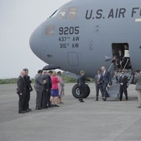 Pics: This is how Joe Biden arrived in Mayo today