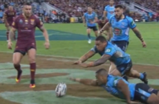 Watch: This agonising, fingertip knock-on proved decisive in epic State of Origin Test