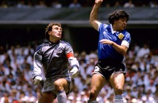 Shilton, Maradona trade barbs over 'Hand of God'