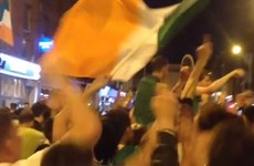 There were epic late night street parties across the country after Ireland's win