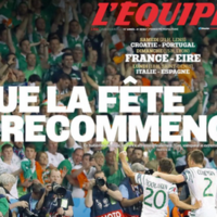 Que la fête recommence! L'Équipe's front page makes for pretty sweet reading