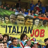 Some of the flags displayed by Irish fans in Lille last night were inspired