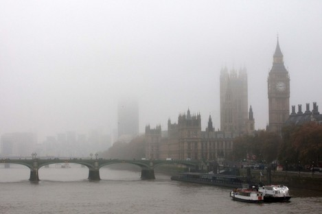 Another episode of foggy weather in London earlier this month