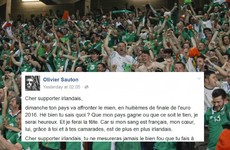 A French man's open letter to Irish fans before Sunday's match is just lovely