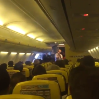 This legend of a Ryanair pilot had the craic with Irish fans on a flight to Lyon this morning