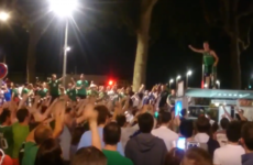 The Irish fans had one heck of a street party in Lyon last night
