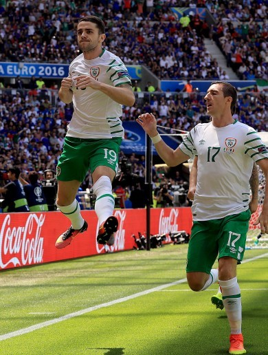 What a start! Robbie Brady's inch-perfect penalty gives Ireland the lead in Lyon