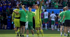 The end of the road? Robbie Keane and Shay Given appear to wave goodbye to Irish fans