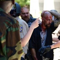 Ten stabbed as neo-Nazis and anarchists clash in California
