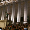 Irish fans said goodbye to France with an epic street party in Lyon last night