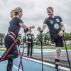 Irish cancer survivor breaks world record for fastest 5km on crutches