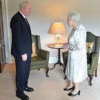 'I'm still alive anyway' jokes Queen Elizabeth on visit to Northern Ireland