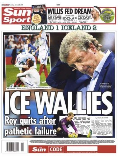 Good riddance, cod help us and ice wallies -  the English papers pull no punches