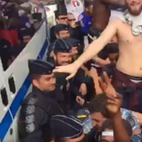 The French fans have started singing 'Stand Up For The French Police' at the Euros