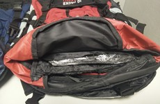 Man busted in Dublin with four rucksacks and 11kg of cocaine