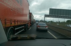 Traffic on the M50 is jammed after two crashes