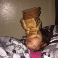 This big sister played the most devious prank on her little sister as she slept