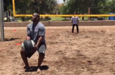 The Steelers' pre-season camp features a 'volleyball' game with a very, very tough twist