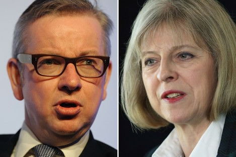 Tory leadership contenders Michael Gove and Theresa May