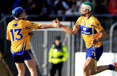 Shanagher hits 4 goals for Clare as they hammer Laois by 35 points in Ennis