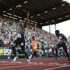 Justin Gatlin is getting quicker and quicker as the Olympics get closer and closer