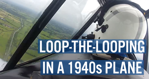 Watch: We did loop-the-loops and barrel rolls in this 1940s plane