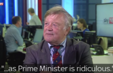 Sky broadcast footage of former Tory minister tearing into Prime Minister hopefuls