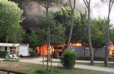 "Irish family ""loses everything"" as fire rips through Italy holiday camp"