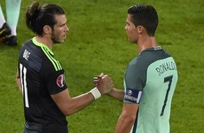 Ronaldo and Bale showed each other the respect they deserve after the final whistle tonight