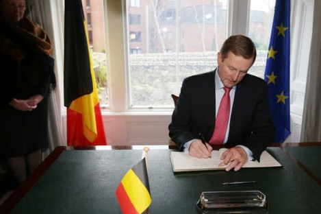 Taoiseach Enda Kenny at the Belgium Embassy