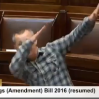 Richard Boyd Barrett just 'dabbed' in the Dáil...