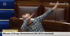 Richard Boyd Barrett has just 'dabbed' in the Dáil