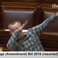 Richard Boyd Barrett has just 'dabbed' in the Dáil