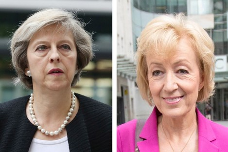 Theresa May (left) and Andrea Leadsom.