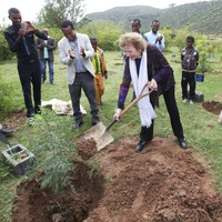 Mary Robinson has been digging holes in Ethiopia - and has an important message for Europe