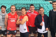When Andy Bovine and Zac Efron turn up at training! It's the sporting tweets of the week