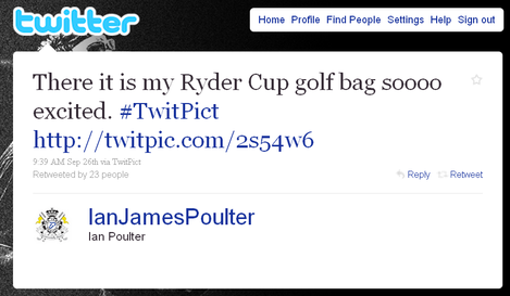 Players including Ian Poulter, who has over a million followers, have been banned from using Twitter until after the Ryder Cup.